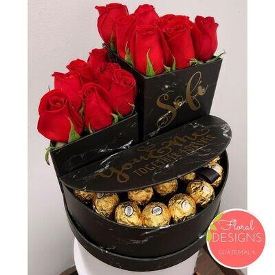 Caja inspiración + Ferrero