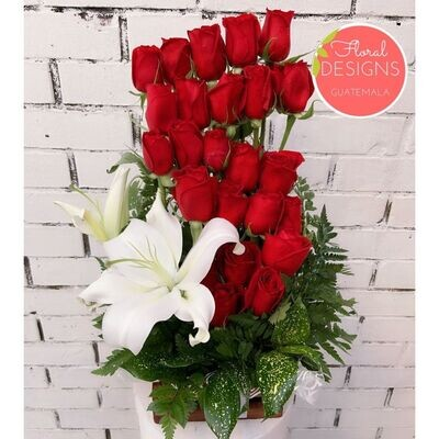 Ruby de 24 rosas