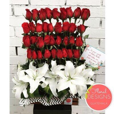 Dulce amor de 24 rosas