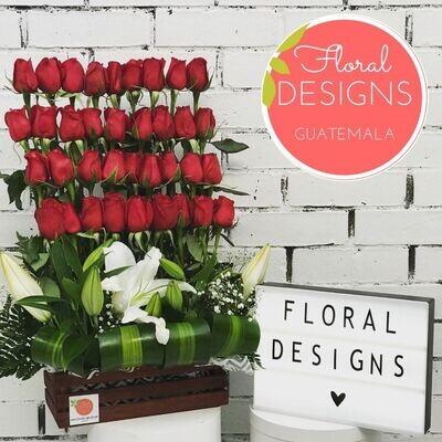 Dulce amor de 36 rosas