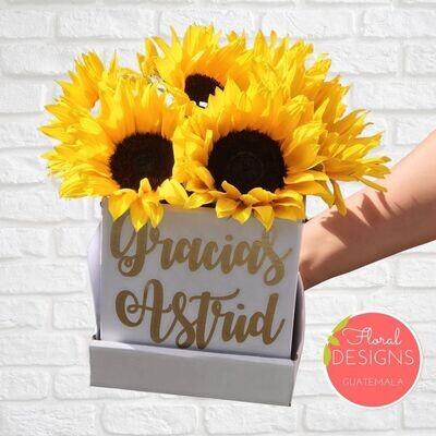 Mini Flowerbox de girasoles
