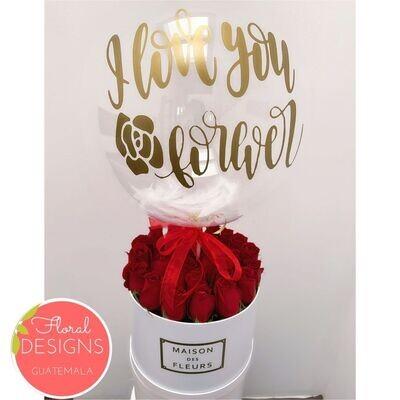 Roundbox Maison Des Fleurs + Globo burbuja personalizado