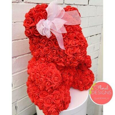 Osito de rosas artificiales