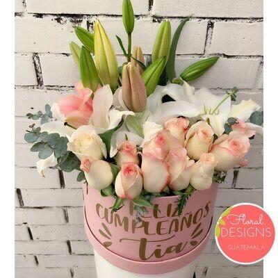 Roundbox Color de rosas y lirios