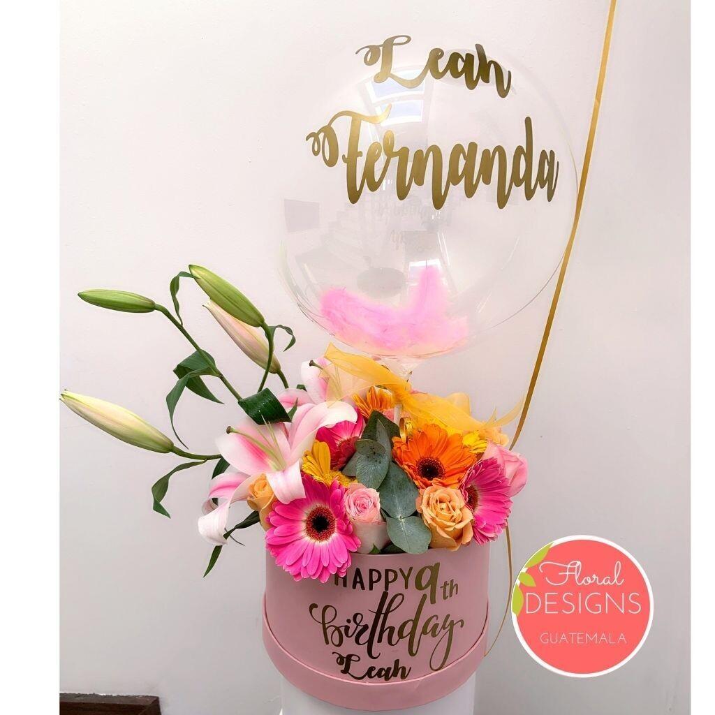 Roundbox Color Floral Designs + Globo burbuja