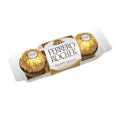 Paquete de 3 chocolates Ferrero Rocher