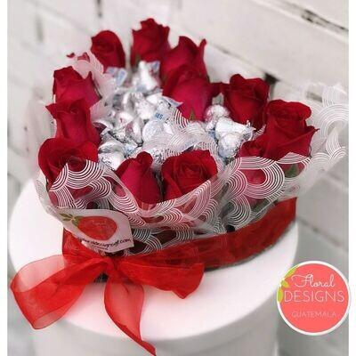 Corazón de chocolate de Kisses