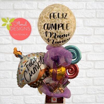Arreglo de globo gigante personalizado + Ferrero