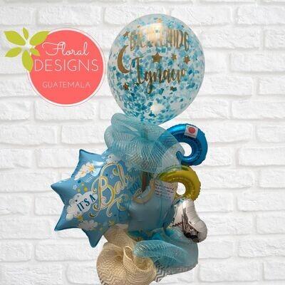 Arreglo de globo gigante personalizado (con o sin chocolates)