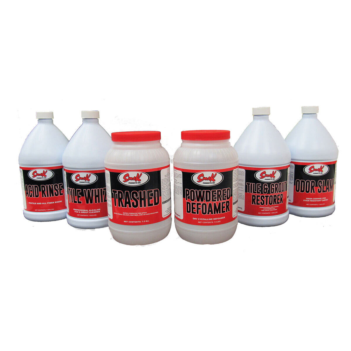 6-Pack SmaK Cleaning Solutions for Hard Surface & Carpet