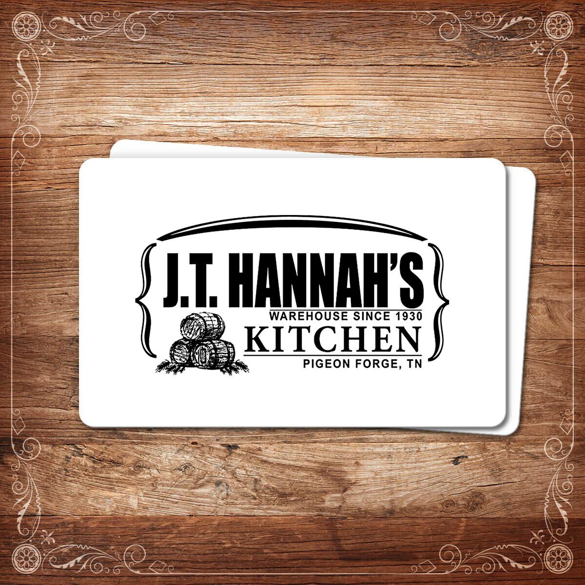 JT Hannah's Kitchen Gift Card