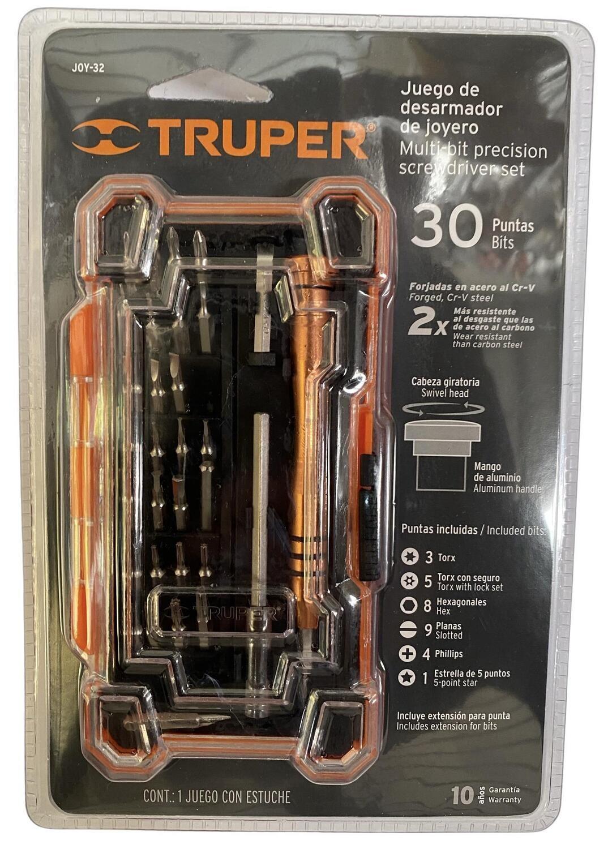 Juego de desarmador de Joyero con 30 puntas Truper