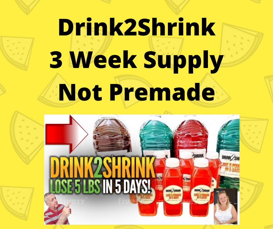 DRINK2SHRINK SYSTEM 3 Weeks Supply LOSE UP TO 10 POUNDS