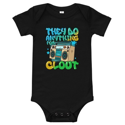 They Do Anything For Clout Baby short sleeve one piece
