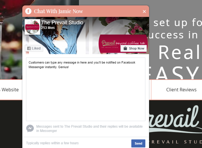Facebook Chat Box for Websites