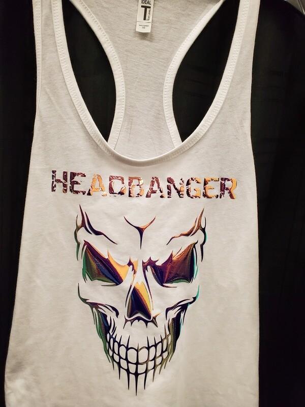 Headbanger Smiling Skull Women's Tank Top