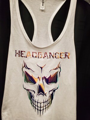 Headbanger Smiling Skull Women's Tank Top