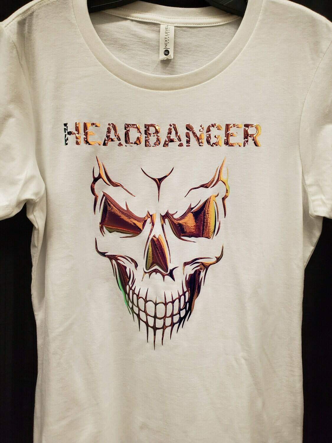 Headbanger Smiling Skull Women's T-Shirt