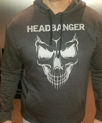 Headbanger Smiling Skull Men's Hoodie
