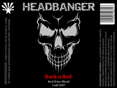 Headbanger Rock N Red, California