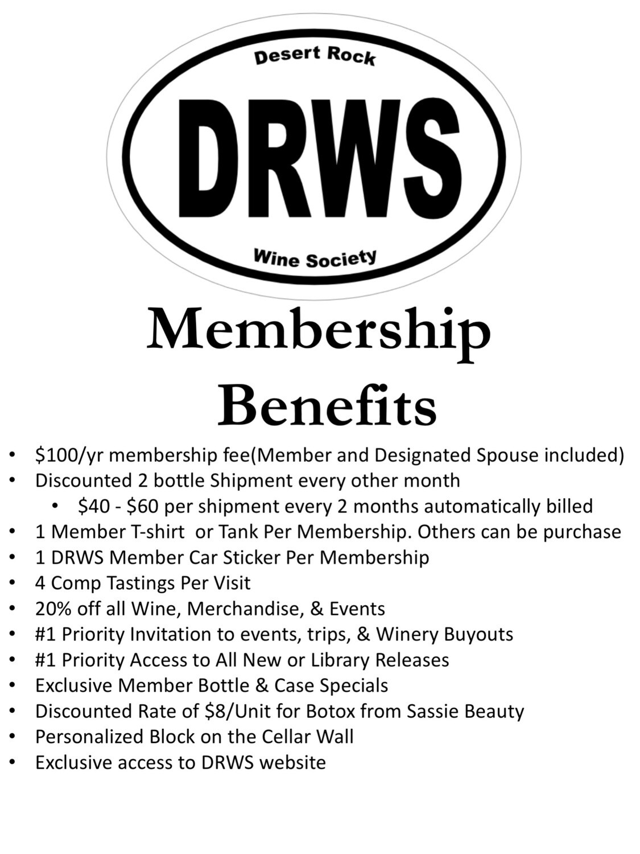 Desert Rock Wine Society Membership