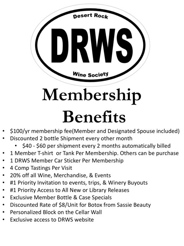 Desert Rock Wine Society Membership