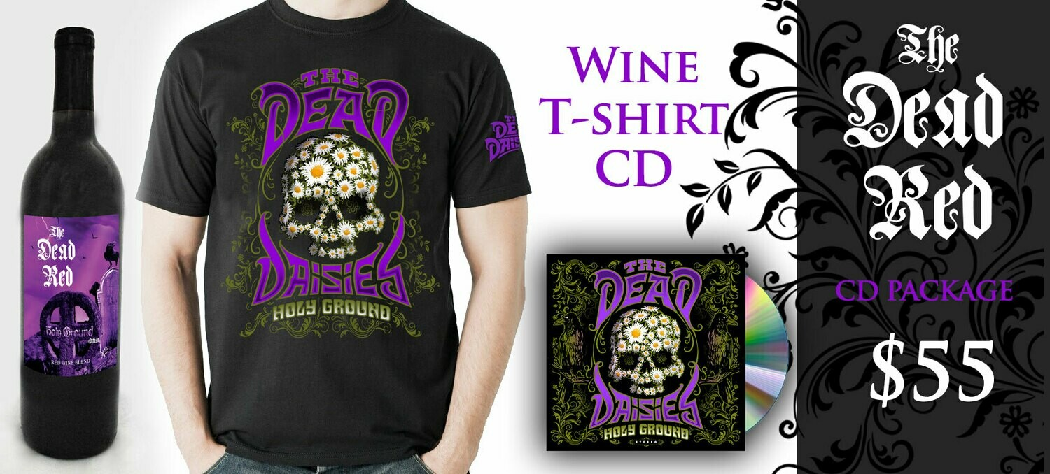 The Dead Red Cabernet-TShirt-CD Combo