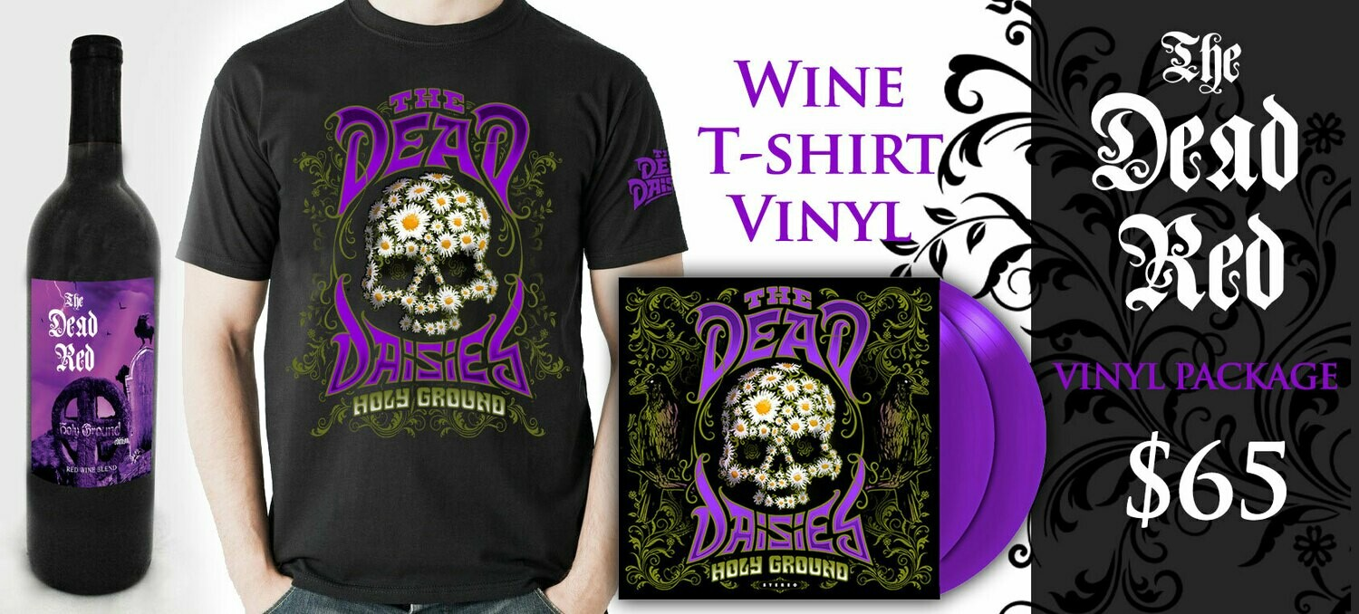 The Dead Red Cabernet-TShirt-Vinyl Combo
