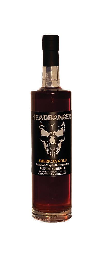 "Headbanger ""American Gold"" Caramel-Maple-Butterscotch Whiskey 80 Proof"