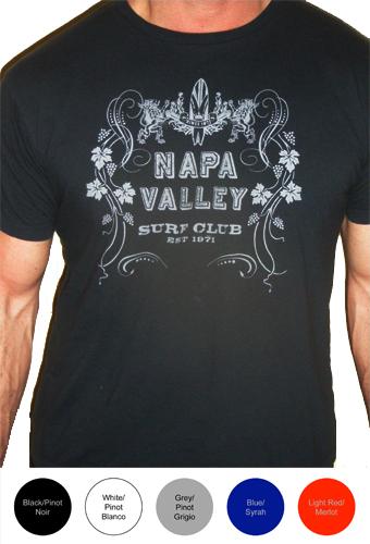 Napa Valley Surf Club Mens Short Sleeve T-Shirt