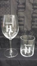 Headbanger Logo Riedel Wine/Whiskey Glasses - 4pk combo