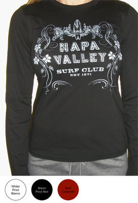 Napa Valley Surf Club Ladies Long Sleeve T-Shirt