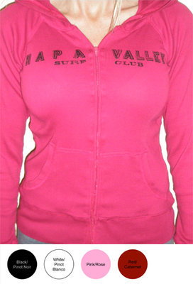 Napa Valley Surf Club Ladies Lightweight Zip Shirt
