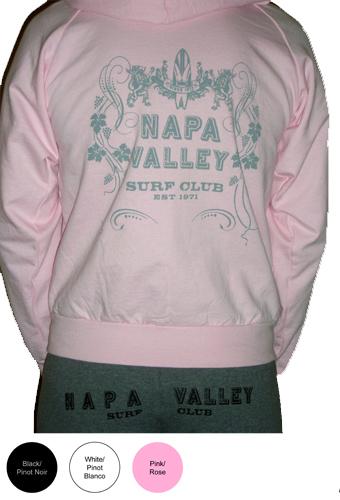 Napa Valley Surf Club Ladies Zip Fleece Sweatshirt