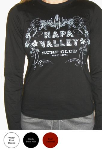 Napa Valley Surf Club Ladies Long Sleeve T-Shirt