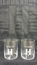 Headbanger Logo Riedel Whiskey Glasses - 2pk