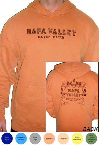Napa Valley Surf Club Mens Pullover Hooded Sweatshirt