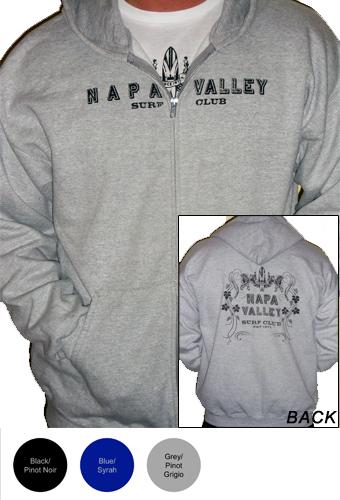 Napa Valley Surf Club Mens Zip Fleece Sweatshirt
