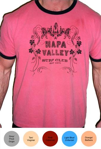 Napa Valley Surf Club Mens Ringer T-Shirt