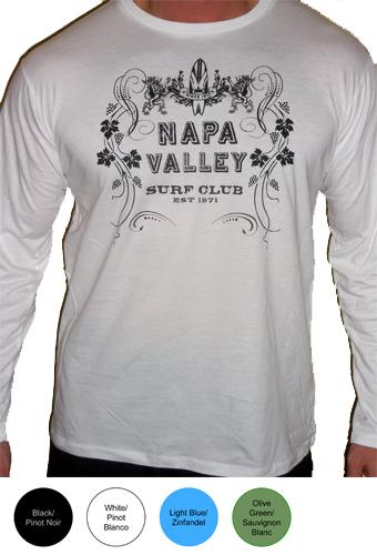 Napa Valley Surf Club Mens Longsleeve T-Shirt