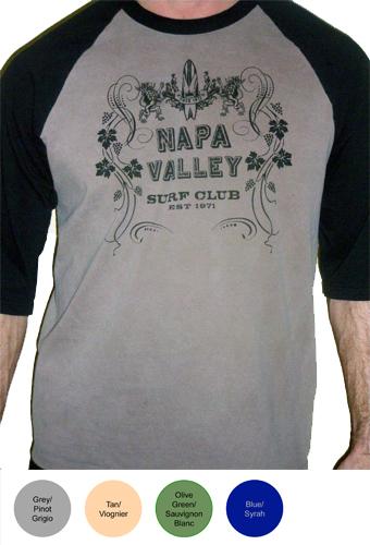 Napa Valley Surf Club Mens 3/4 Sleeve T-Shirt