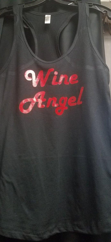 Wine Angel Ladies Tank