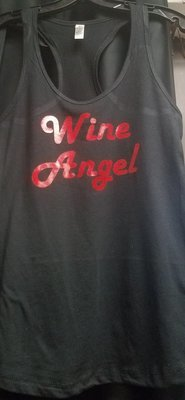Wine Angel Ladies Tank