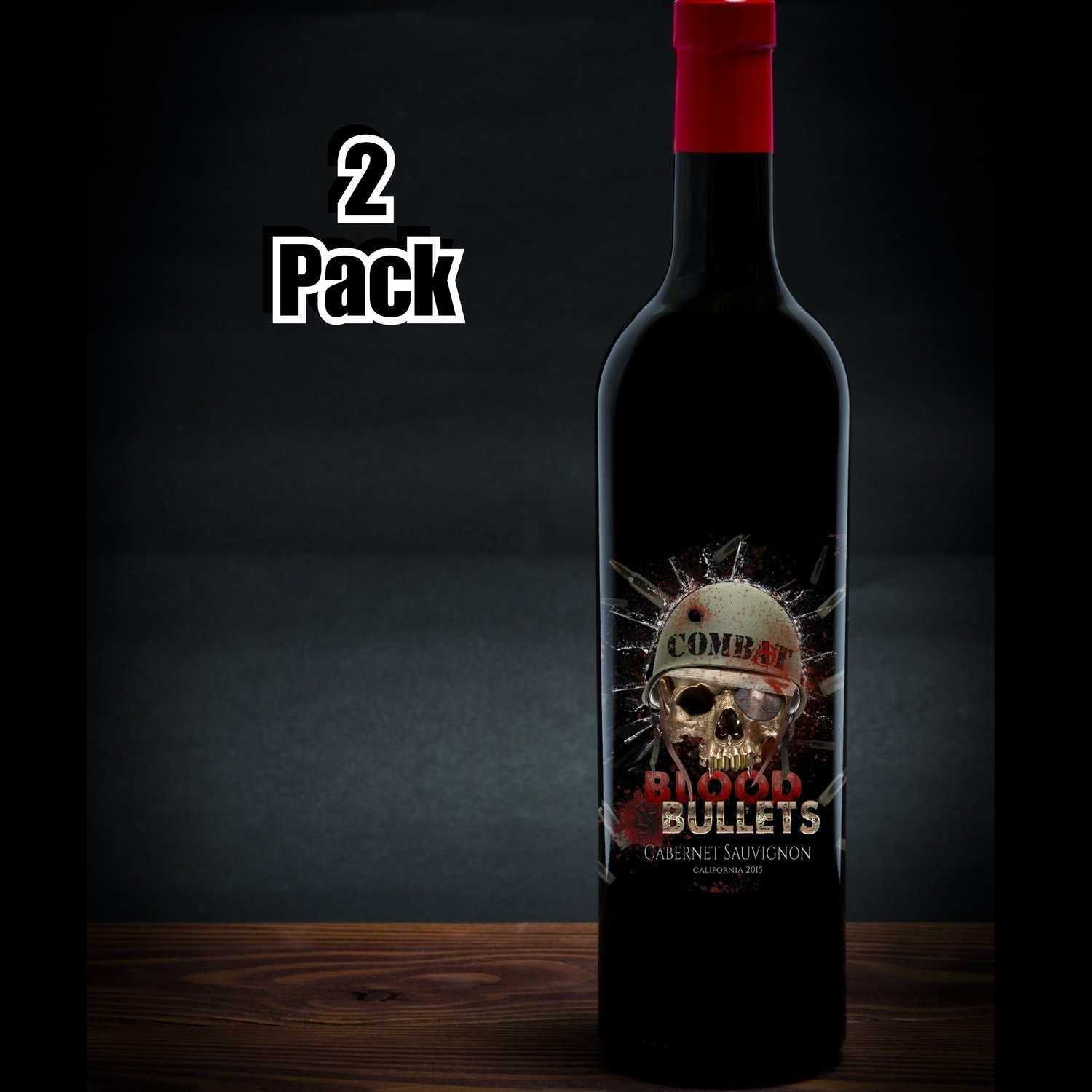"Combat ""Blood and Bullets"" Cabernet Sauvignon Two Pack"