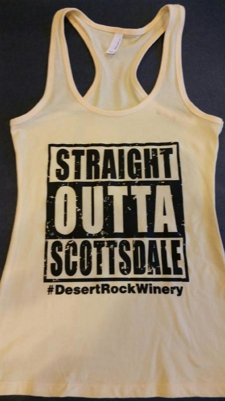 Straight Outta Scottsdale  Ladies Tank Top - Racer Back