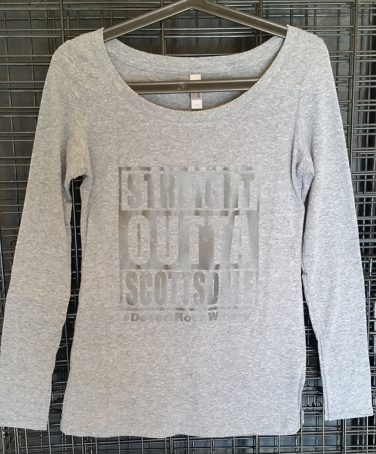 Straight Outta Scottsdale Ladies Long Sleeve Scoop Neck T-Shirt