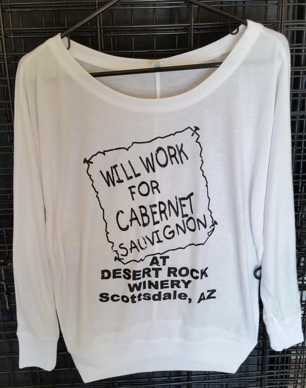 Will Work for Cab Ladies Long Sleeve Scoop Neck Lightweight Sweatshirt