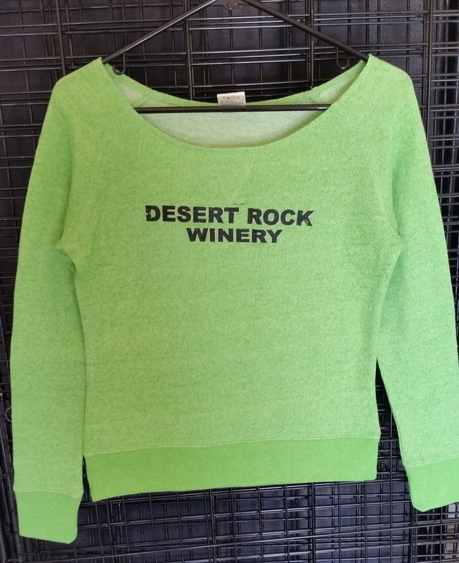 Desert Rock Winery Ladies 3/4 Sleeve Scoop Neck Sweatshirt