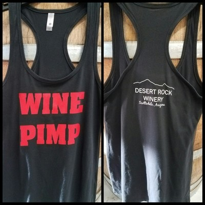 Wine Pimp Ladies Racer Tank