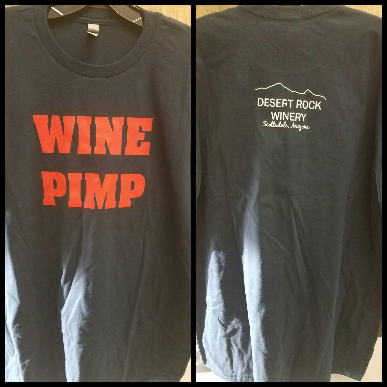 Wine Pimp Mens Short Sleeve T-Shirt